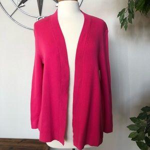 Talbots Pink Sweater Cardigan Petite Large